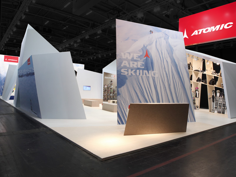 atelier 522 Messestand Design Atomic ISPO 2011 Sport
