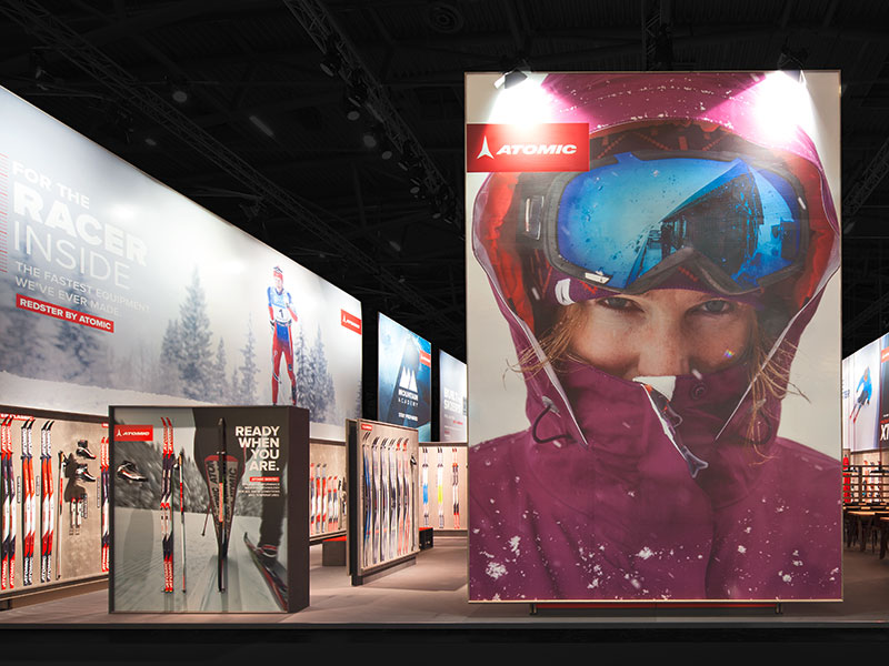 atelier 522 trade fair booth design atomic ispo 2015 outside