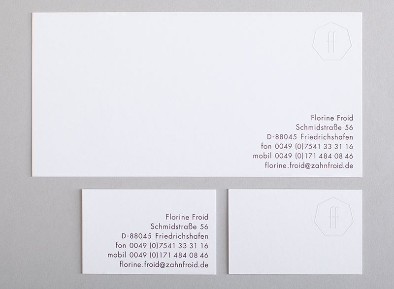 atelier 522 business paper communication graphic design print embossing cards
